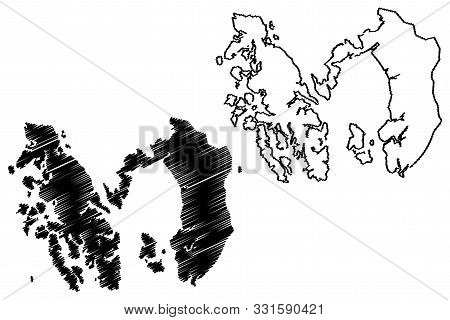 Prince of Wales-Hyder Census Area, Alaska (Boroughs and census areas in Alaska, United States of America,USA, U.S., US) map vector illustration, scribble sketch Prince of Wales-Outer Ketchikan map poster