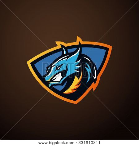 Dragon Vector Logo Template. Dragon Sport Gaming Mascot Logo Template. Mythological Animals Dragon S