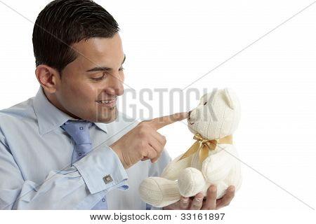 Man With Teddy Bear