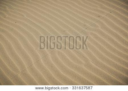Ripple Marks On A Sandy Beach