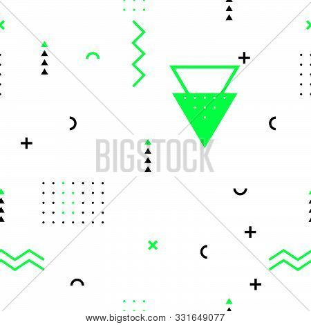 Abstract Color Geometric Seamless Pattern Background For Decoration And Ornament.