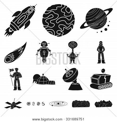 Isolated Object Of Colonization And Sky Logo. Collection Of Colonization And Galaxy Vector Icon For