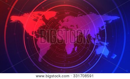 News Graphic Illustration With Lines And World Map, Abstract Background. Elegant And Luxury 3d Illus