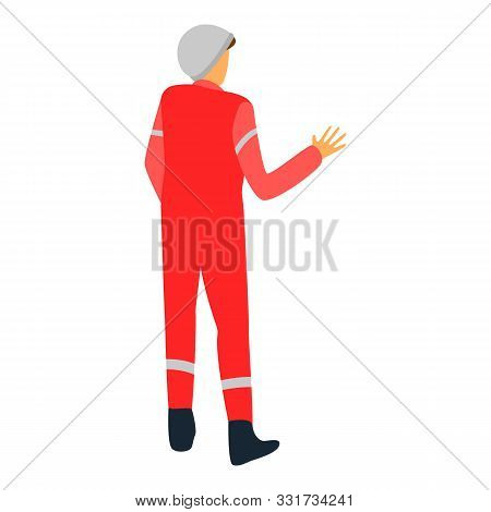 Derrick Man Icon. Isometric Of Derrick Man Vector Icon For Web Design Isolated On White Background