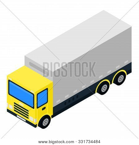 Diesel Truck Icon. Isometric Of Diesel Truck Vector Icon For Web Design Isolated On White Background