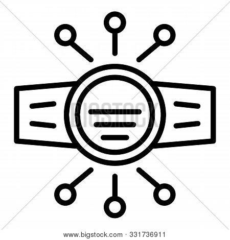 Modern Fitness Bracelet Icon. Outline Modern Fitness Bracelet Vector Icon For Web Design Isolated On