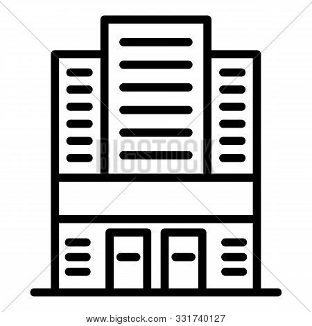 Expo Building Icon. Outline Expo Building Vector Icon For Web Design Isolated On White Background