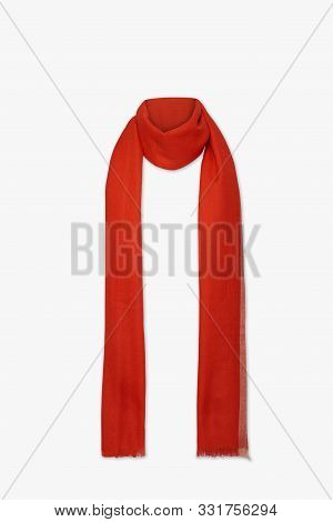 Red Scarf New Look With White Background