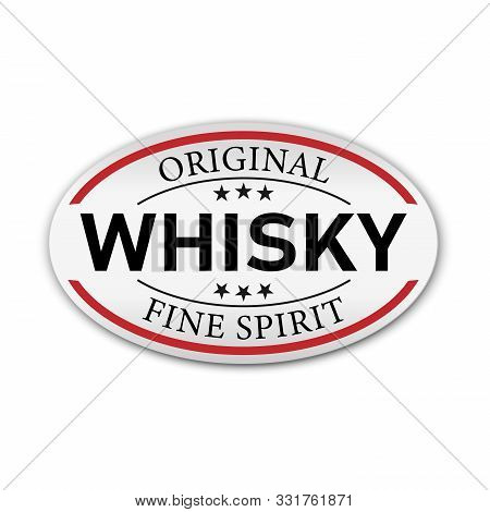 Original Whisky Fine Spirit Button Label Banner Icon Sticker Thai Design, On White Background Vector