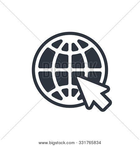 Web Icon. Website Pictogram. Internet Symbol Isolated On White Background. Vector Illustration