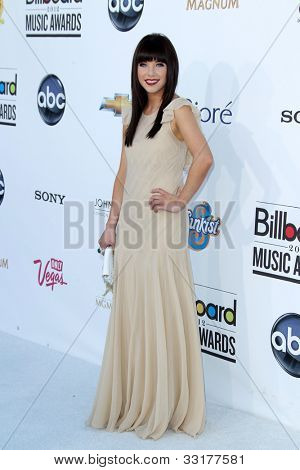 LAS VEGAS - MAY 20:  Carly Rae Jepsen arrives at the 2012 Billboard Awards at MGM Garden Arena on May 20, 2012 in Las Vegas, NV