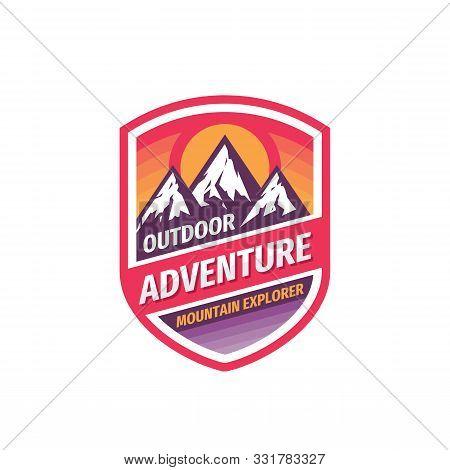 Outdoor Adventure - Concept Logo Badge Design. Mountains Logo. Climbing Creative Logo. Expedition Lo