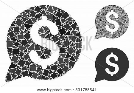 Bid Mosaic Of Rough Items In Various Sizes And Color Tints, Based On Bid Icon. Vector Ragged Items A
