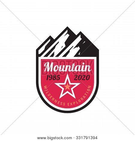 Mountain Logo. Adventure Concept Badge Design. Wilderness Logo. Exploration Logo. Expedition Logo. H
