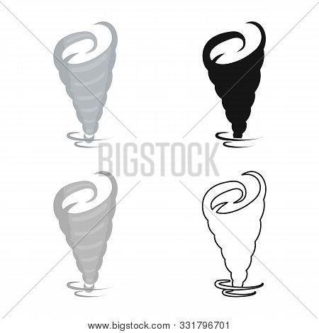 Isolated Object Of Tornado And Wind Icon. Web Element Of Tornado And Air Stock Symbol For Web.