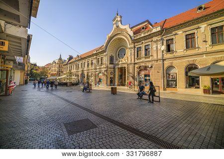 Sightseeing Tour Of Oradea, Romania, 26-octomber 2019. Old Build