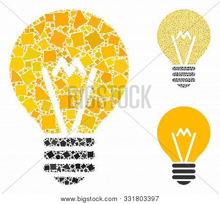 Electric Bulb Composition Of Abrupt Parts In Variable Sizes And Color Tints, Based On Electric Bulb