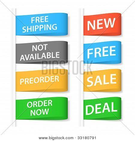 Shopping Labels Set. Vector Illustration