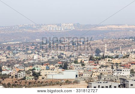 Rosh Haayin, Israel, October 31, 2019 : View From The Place Called The Balcony Of Israel In The Jewi