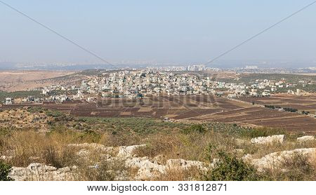 Rosh Haayin, Israel, October 31, 2019 : Panoramic View From The Place Called The Balcony Of Israel I
