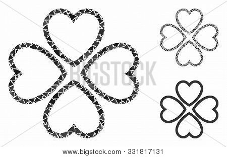 Love Hearts Mosaic Of Bumpy Items In Different Sizes And Shades, Based On Love Hearts Icon. Vector B