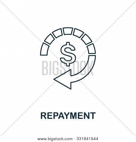 Repayment Icon Outline Style. Thin Line Creative Repayment Icon For Logo, Graphic Design And More