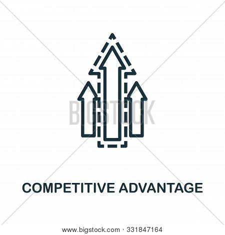 Competitive Advantage Icon Outline Style. Thin Line Creative Competitive Advantage Icon For Logo, Gr