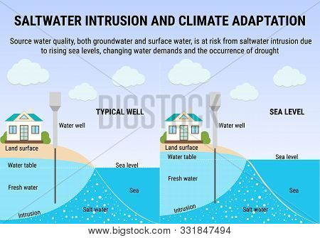 Saltwater Intrusion And Climate Adaptation, Sea Level Rise Infographic