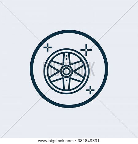 Alloy wheel icon isolated on white background. Alloy wheel icon simple sign. Alloy wheel icon trendy and modern symbol for graphic and web design. Alloy wheel icon flat vector illustration for logo, web, app poster
