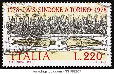 Postage stamp Italy 1978 shows Holy Shroud of Turin, by Giovanni