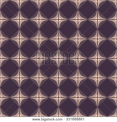 Abstract Gold Rhombus Wave Lines Background Texture In Geometric Ornamental Style. Seamless Design