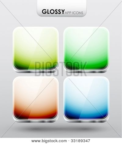 Glossy app icons