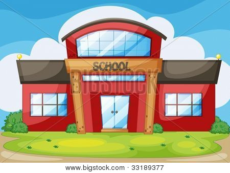 Illustration of a modern school