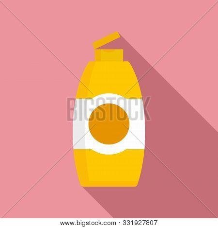 Used Shampoo Bottle Icon. Flat Illustration Of Used Shampoo Bottle Vector Icon For Web Design