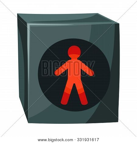 Vector Design Of Stoplight And Light Sign. Graphic Of Stoplight And Signal Vector Icon For Stock.