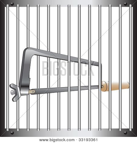 Prison Bar And Hacksaw
