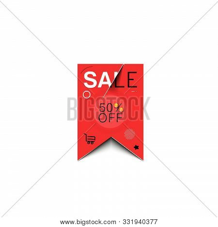 50% Off Sale Text Made Of  Vector Design Element. Use For Modern Design, Cover, Poster, Template, Br