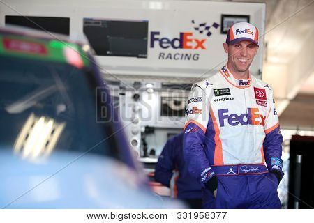 November 01, 2019 - Ft. Worth, Texas, USA: Denny Hamlin (11) gets ready to practice for the AAA Texas 500 at Texas Motor Speedway in Ft. Worth, Texas.