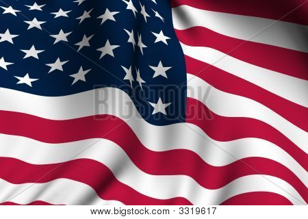 Rendered American Flag