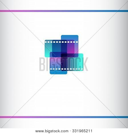 Christian Cinema Logo. Symbol Of Movies And Videos For The Ministry, Conference, Camp, Festival Or E