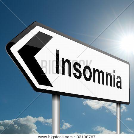 Insomnia Concept.