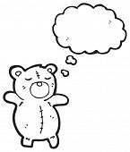 cartoon teddy bear with thought bubble poster