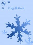 Abstract Christmas card background dark and light Blue poster