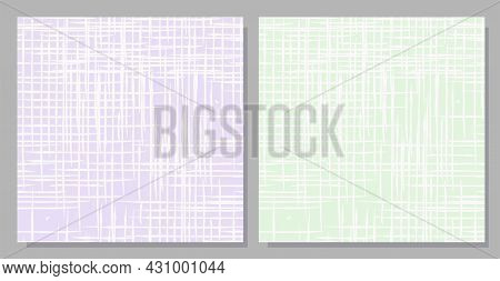 Seamless Pattern Imitating Linen. Natural Fabric. Delicate Pastel Color. Set Of Light Patterns.vecto