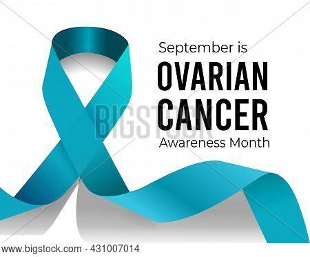 Ovarian Cancer Awareness Month. Vector Illustration