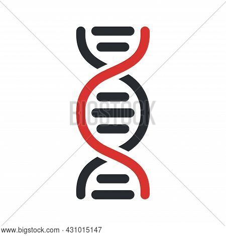 Dna Icon. Vector Dna Helix- Symbol Of Science. Element For Design