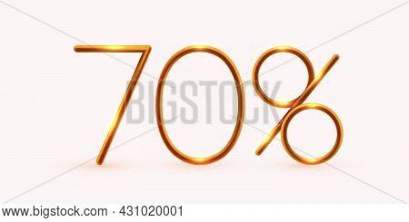 70 Percent Off. Discount Creative Composition. Mega Sale Or 70 Percent Bonus Symbol.