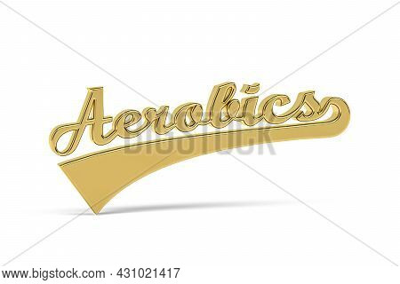 Golden 3d Aerobics Icon Isolated On White Background - 3d Render
