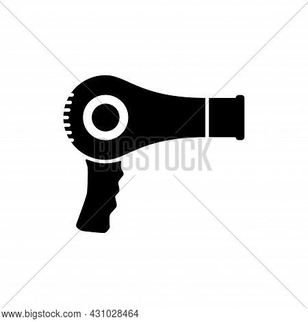 Hair Dryer Icon Isolated On White Background. Hair Dryer Vector Design Illustration. Hair Dryer Icon