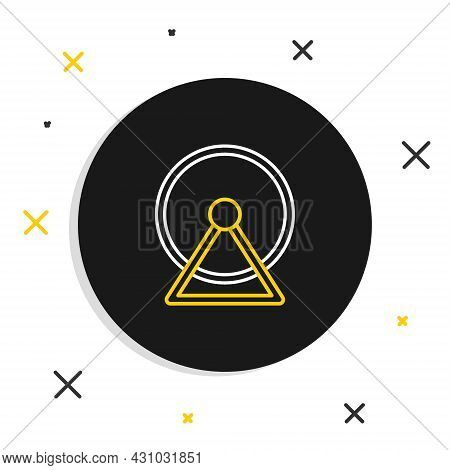 Line Hamster Wheel Icon Isolated On White Background. Wheel For Rodents. Pet Shop. Colorful Outline